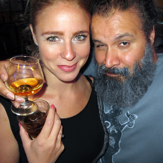 william fuentes and Amanda Rae at Edge Bar in New York City