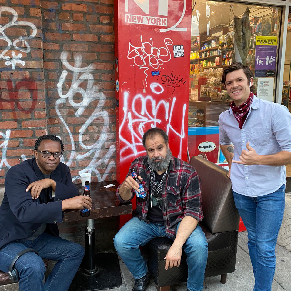 Foster, William and Zack, hanging out in lower east side of NYC